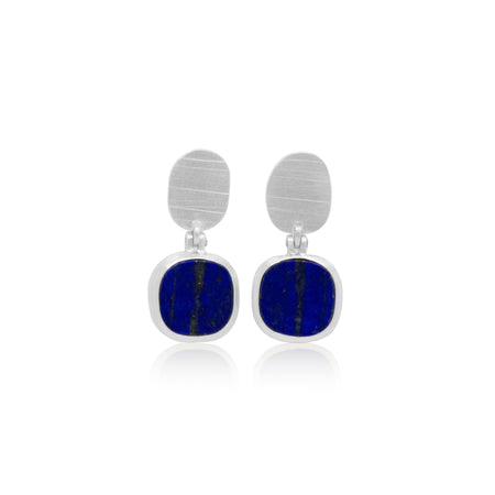 Lapai Lazuli Sterling Silver Earrings