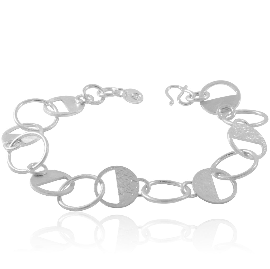 Sterling Silver textured bracelet handcrafted