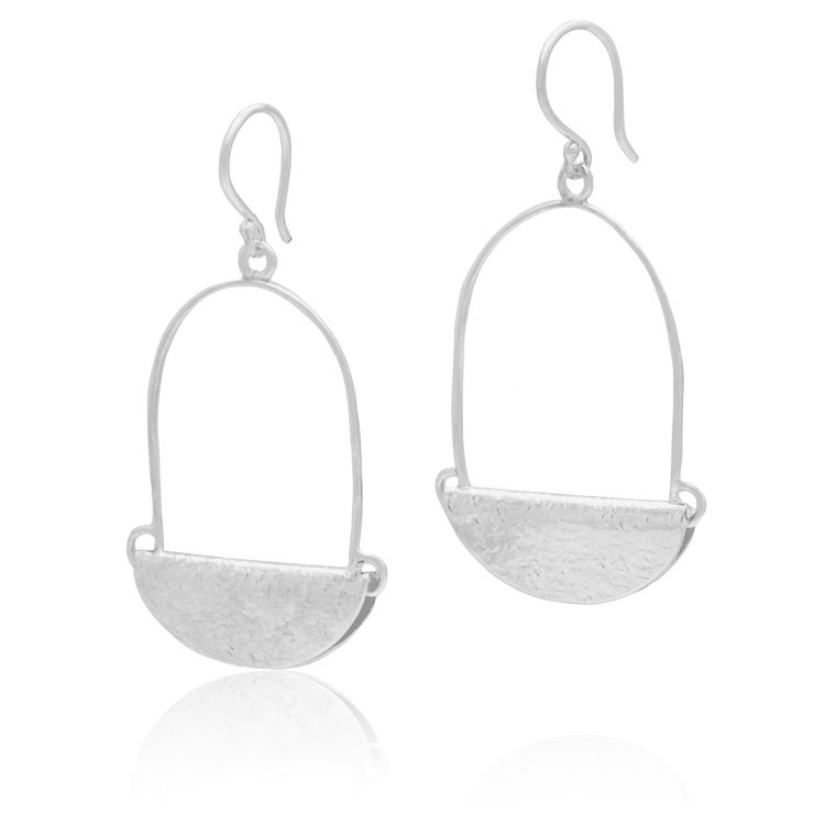 Handcrafted Sterling Silver Dropped Earrings