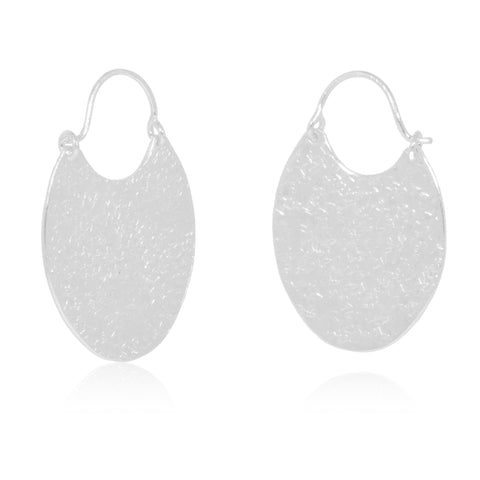 Handcrafted textured Sterling Silver Dropped Earrings