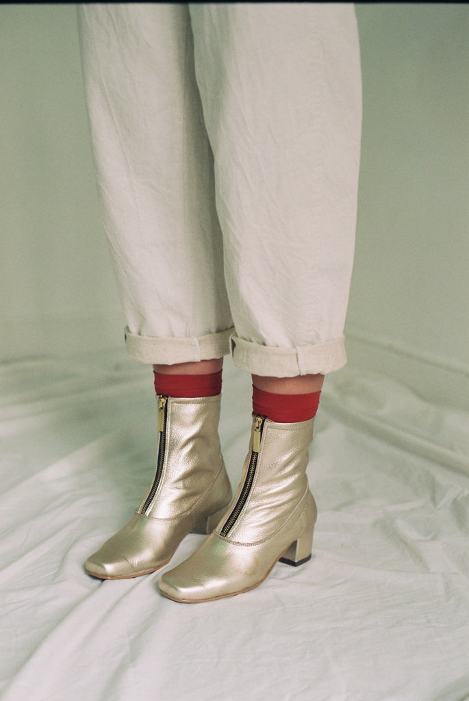 Golden Square Ankle Boots