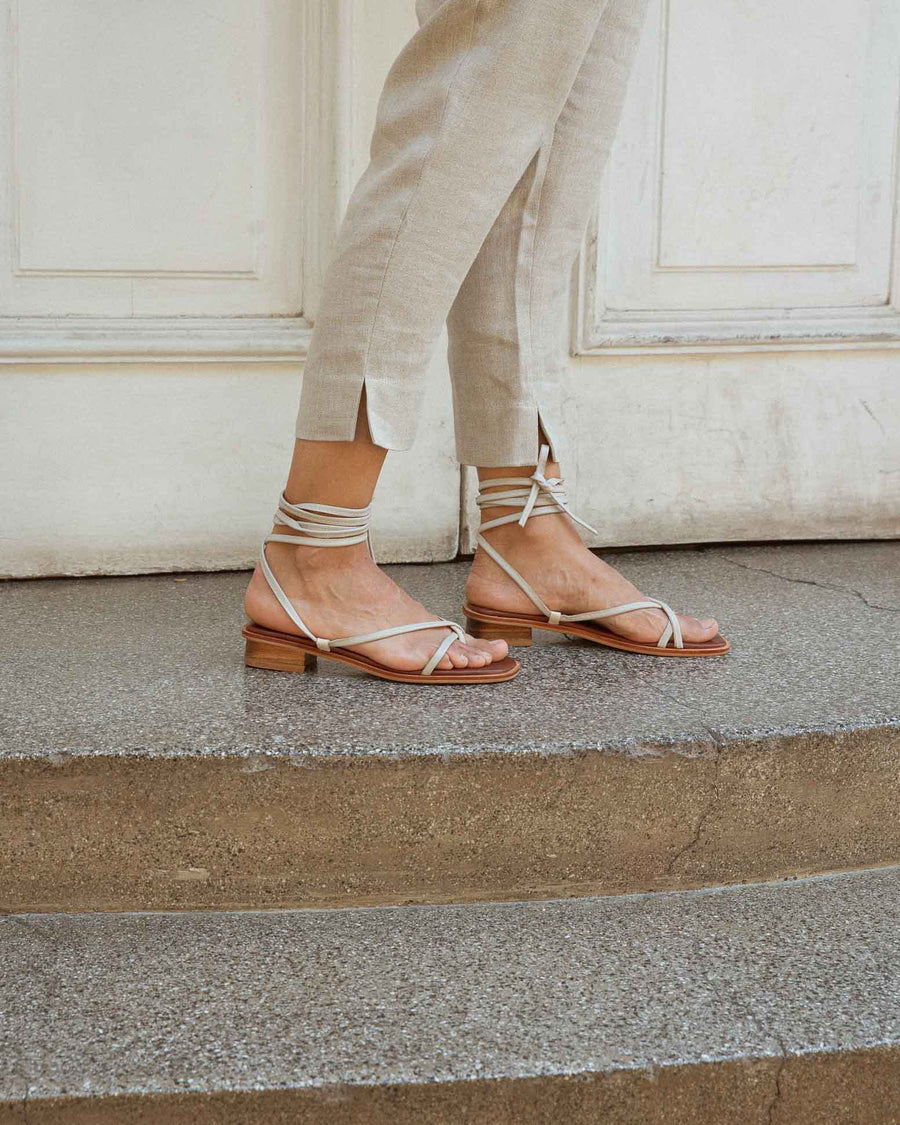 Strap Sandals, Ivory
