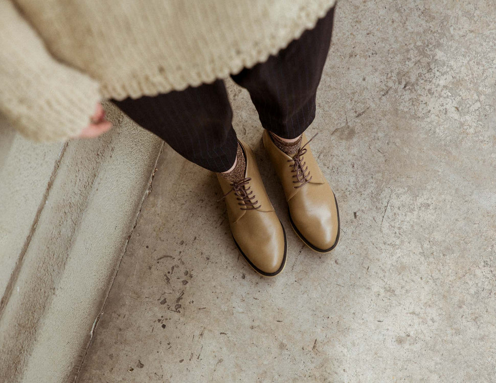 Toffee Lace Up Ankle Boots II