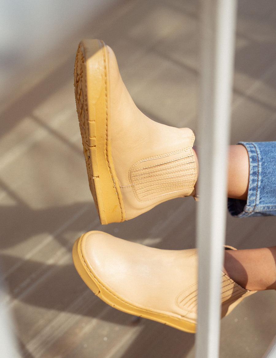 Champagne Chelsea Boots