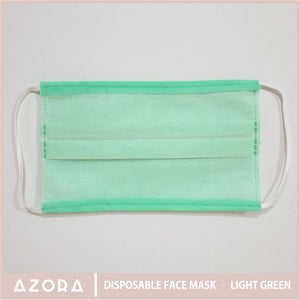 SET OF 50 Disposable Face Mask - Light Green