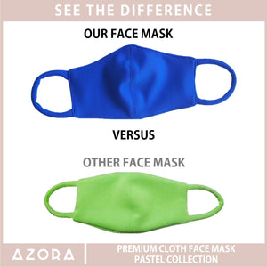 Set of 3 Pastel Collection Cloth Face Mask (Pink + Green + Yellow)