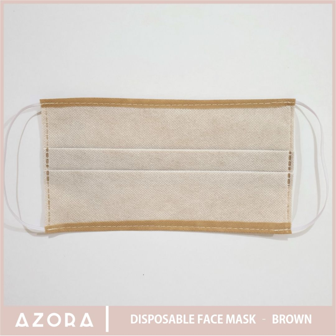 SET OF 50 Disposable Face Mask - Brown