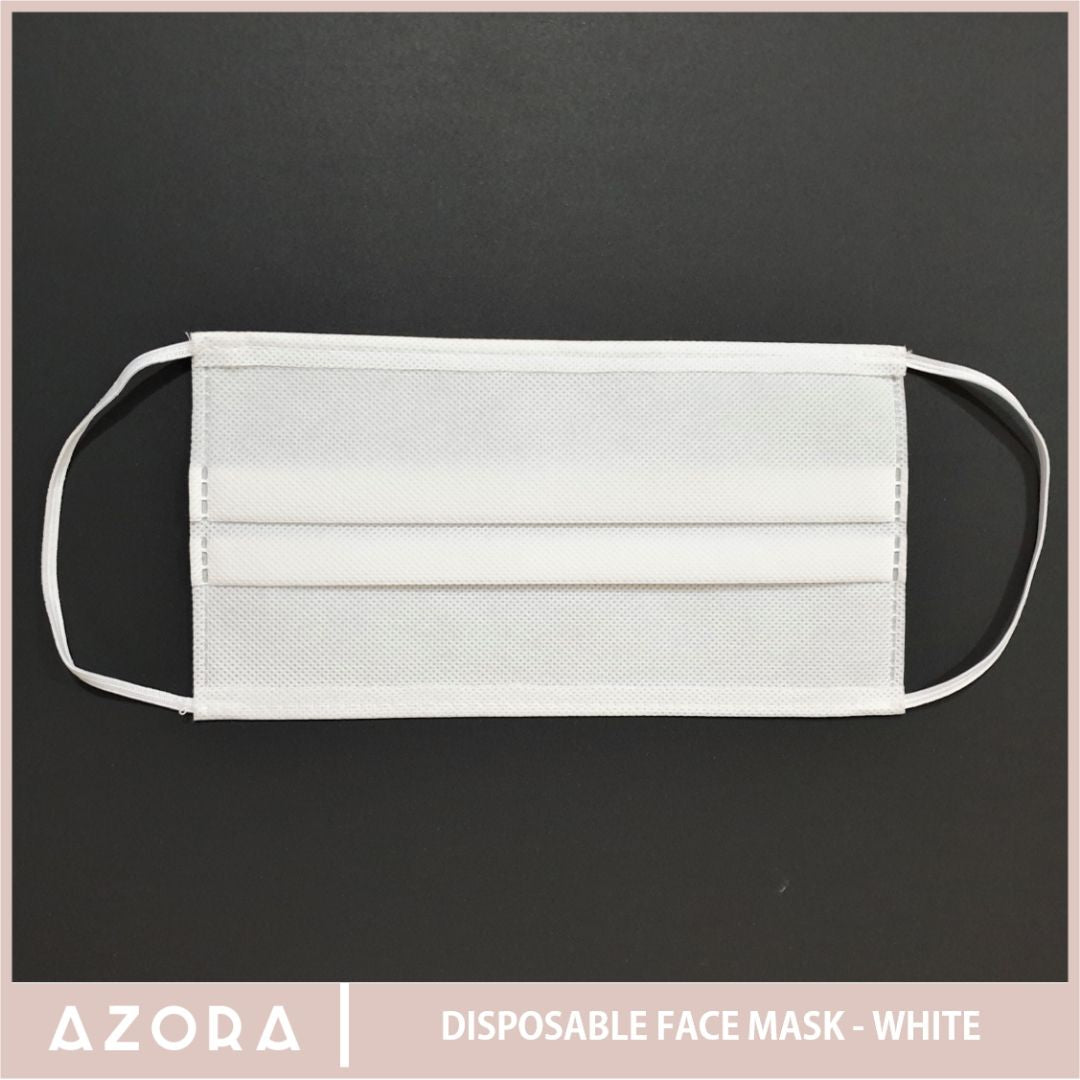 SET OF 50 Disposable Face Mask - White