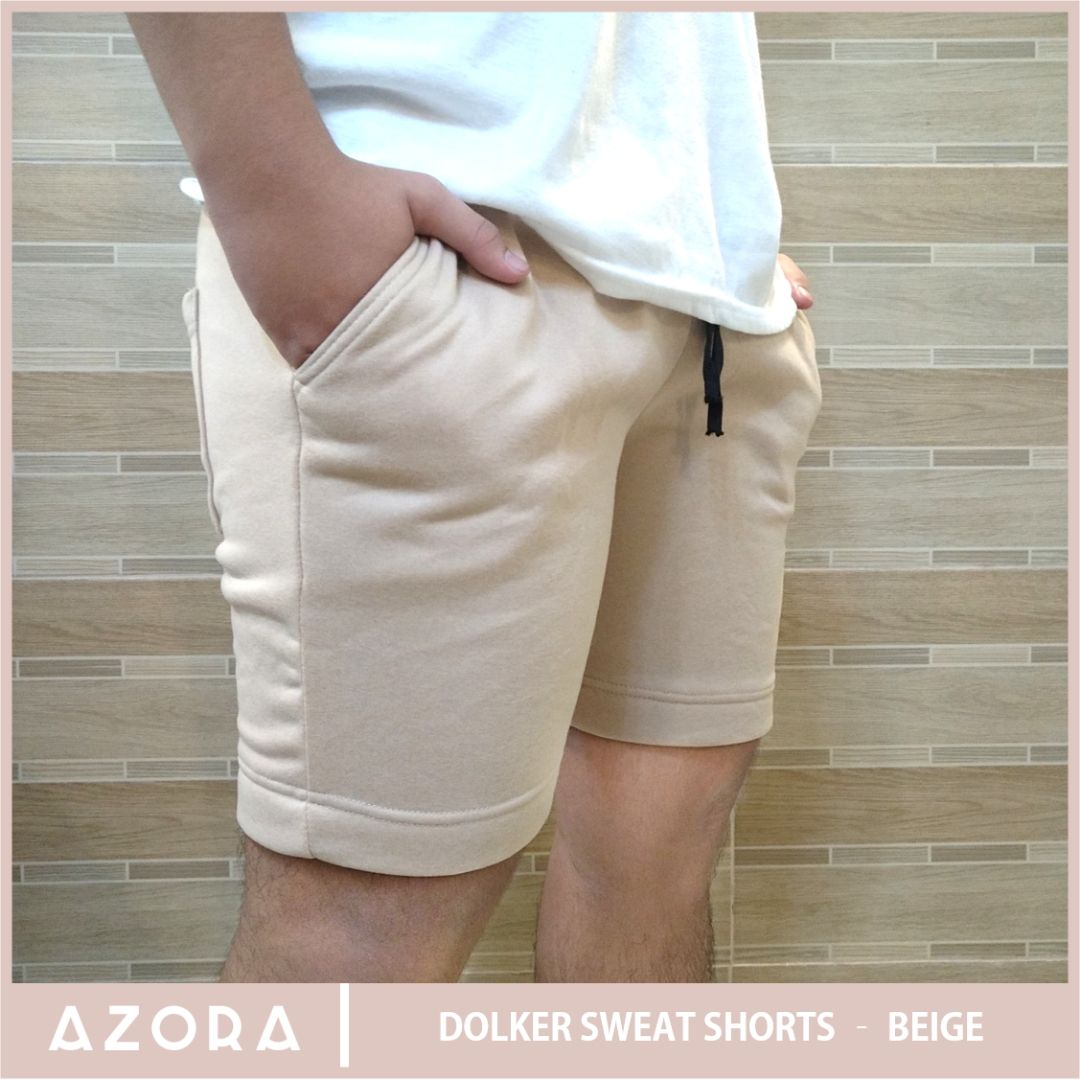 Dolker Sweat Shorts - Beige
