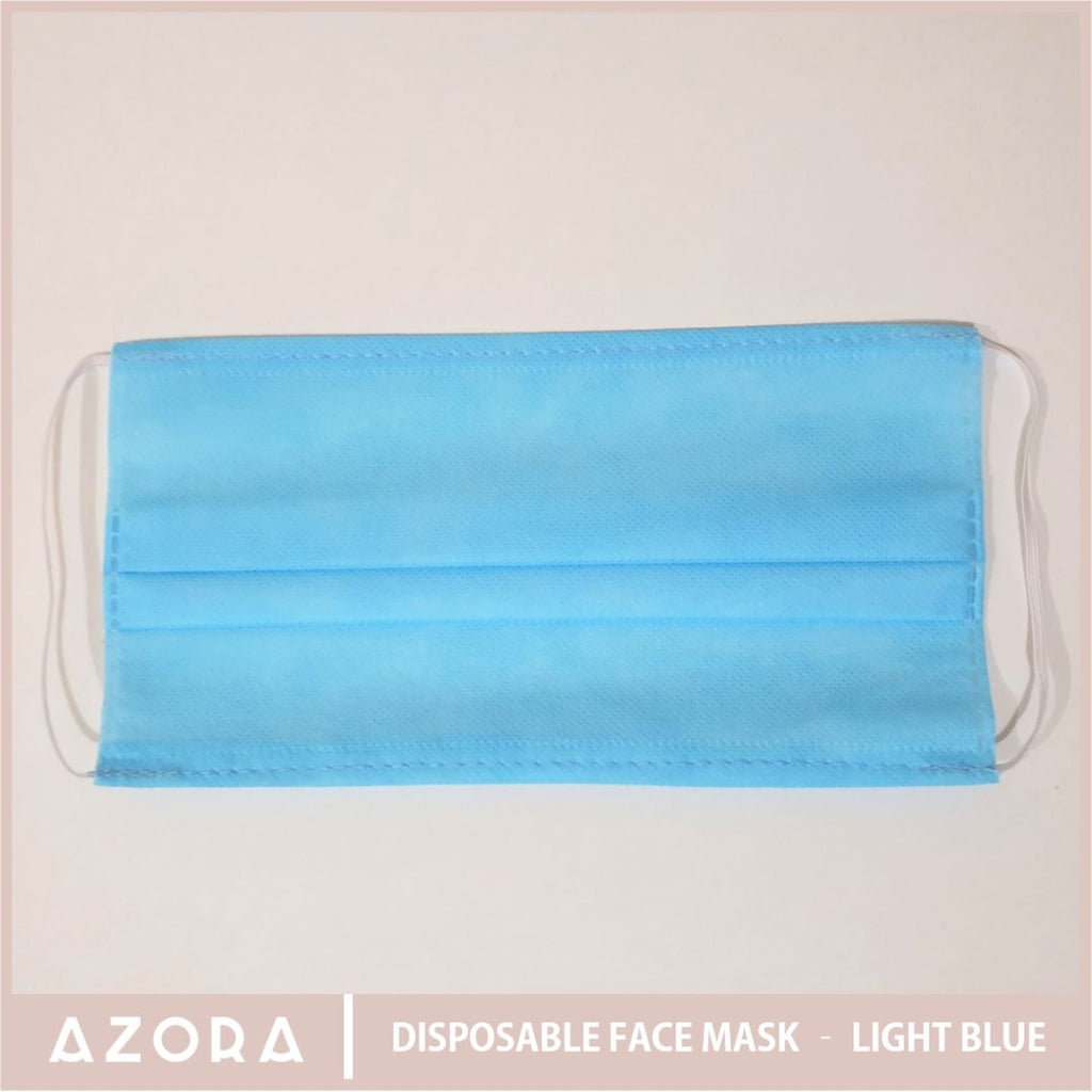SET OF 50 Disposable Face Mask - Light Blue