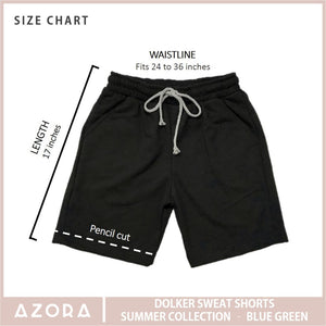 Dolker Sweat Shorts Summer Collection - Blue Green