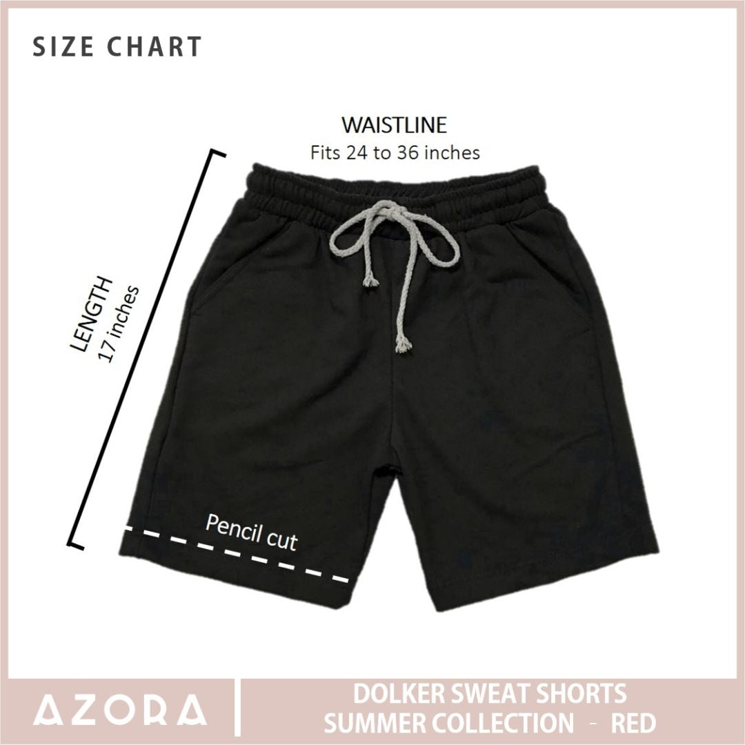 Dolker Sweat Shorts Summer Collection - Red