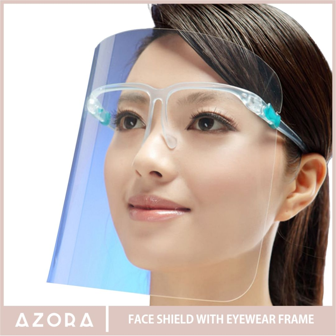 Face Shield with Eyewear Frame