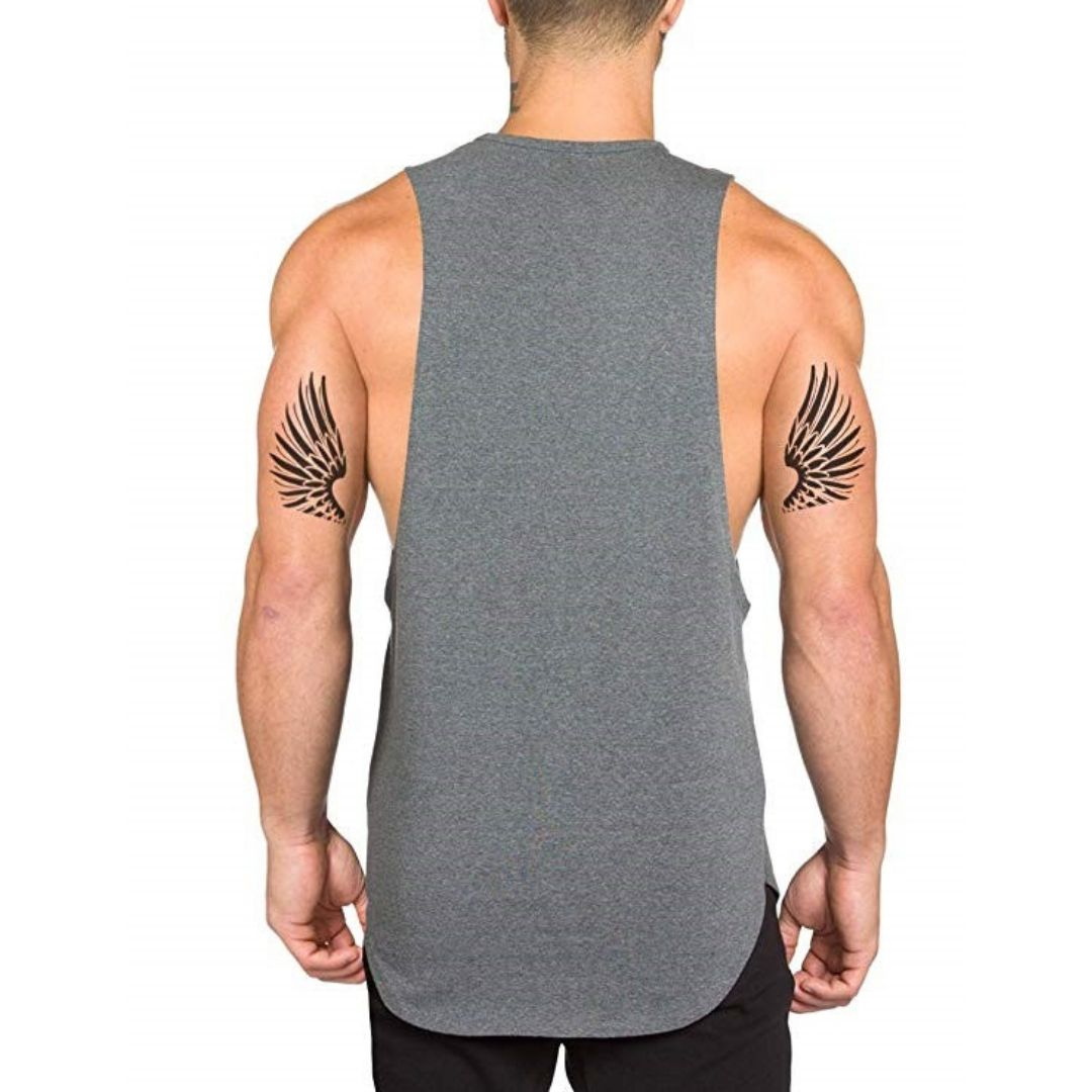 SET of 3 Men's Tank Top Black + White + Gray (2+1 Promo)