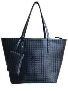 Aimee Black Tote Bag with Purse