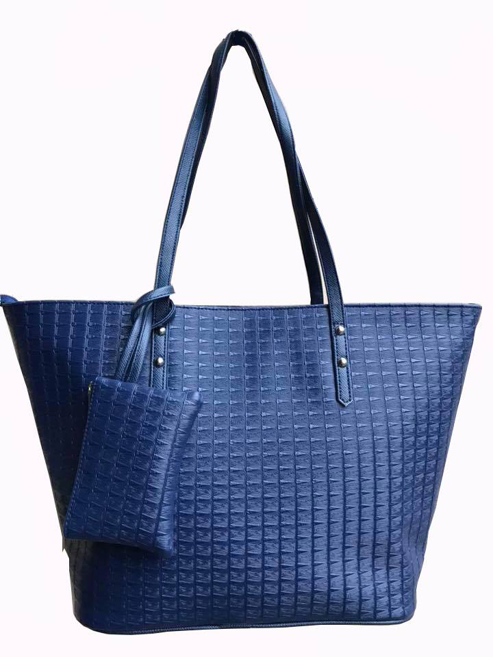 Aimee Navy Blue Tote Bag with Purse