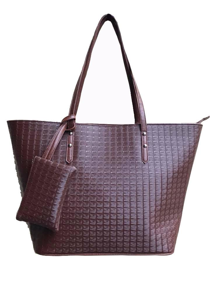 AZORA PH Aimee Brown Tote Bag with Purse