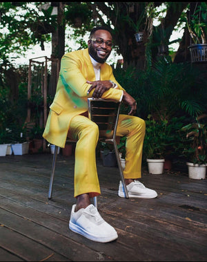 KAMSI TCHARLES SUPERSTAR YELLOW SUIT