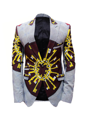 Kamsi TCharles -IGATKEYS- Ankara prints Men's Jacket