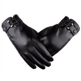 Plus Velvet 2018 men's genuine leather gloves sheepskin gloves fashion female windproof gloves autumn and winter mittnes