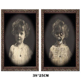 3D Ghost Picture Frame Halloween Decoration Horror Craft Supplies Bachelorette Party Decor Halloween Theme Party Props 2019