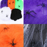 New Horrible Scary Spider Web Cobweb Bar Haunted House Scene Props Arranged Decor Halloween Party Decoration Holiday DIY