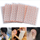120 pcs/lot Ear Acupuncture Massage Therapy Needle Patch Auricular Auriculotherapy Vaccaria Ear Care Seeds Sticker