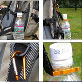 Keychain Safety Buckle Camping Carabiner Water Bottle Buckle Hook Holder Clip For Camping Hiking survival Traveling Tools Hooks