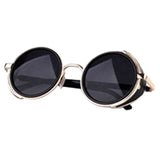 Men Women's Sunglasses 2017 Vintage Retro Mirror Lens Round Glasses Goggles Steampunk Mirror Sunglasses Eyewear Glasses Gafas