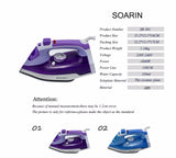 Steam Iron or Clothes Ceramic Base Plate Electric Steam Irons Steamer Handheld Thermostat 220v 360-degree Rotating Power Cord