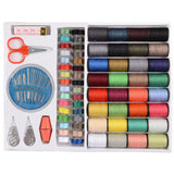 64 Spools Assorted Colors Sewing Threads Needles Set Sewing Tools Kit