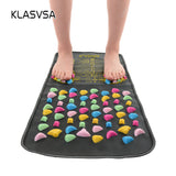 KLASVSA Chinese Reflexology Walk Stone  Pain Relieve Foot Leg Massager Mat Health Care Acupressure
