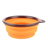 foldable silicone dow bowl candy color outdoor travel portable puppy doogie food container feeder dish on sale, 13 cm 350 ml