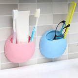 Practical New Cute Eggs Design Toothbrush Sucker Holder Suction Hooks Cup Organizer Toothbrush Rack Bathroom Kitchen Storage Set