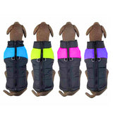 Waterproof Pet Dog Puppy Padded Cold Winter Warm Vest Jacket Pet Clothes For Medium/Large Dogs Blue