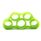 1Pcs Silicone Finger Gripper Strength Trainer Resistance Band Hand Grip Wrist Yoga Stretcher Wrist Rock Climbing Exercise