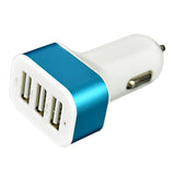 Universal USB Car Charger Adapter 5V 3 Port 1A 1A 2.1A For iPhone ipad Samsung xiaomi huawei meizu Zte Oppo HTC Free Shipment