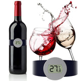 MOSEKO Digital Read Thermometer Champagne and Wine Bottle Snap with LED Display for Wine Enthusiast