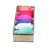 4Pc Underwear Bra Organizer Storage Box 2 Colors Beige/Rose Drawer Closet Organizers Boxes For Underwear Scarfs Socks Bra