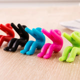 Small People Shaped Lid Insert Color Rubber Inserts Useful Convenient Phone Chopsticks Rests Cookware Kitchen Tools