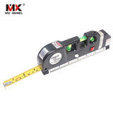 MX-DEMEL Laser Level Horizon Vertical Measure 8FT Aligner Standard & Metric Rulers Multipurpose Measure Instrument Level Laser