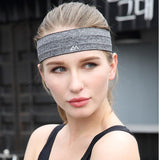 Maleroads Sport Headband Men Women Head Sweat Band Run Football Tennis Headscarf Silicone Anti-slip Elastic Sweatband HairBand