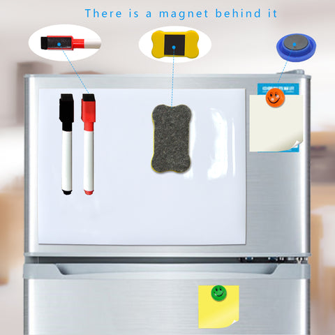 YIBAI Magnet Whiteboard A4 soft magnetic board, Dry Erase drawing and recording board For Fridge Refrigerator with Free gift