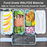 900ml Japanese Microwave Lunch Box Portable 3 Layer Bento Box Healthy Food Container Oven Dinnerware set