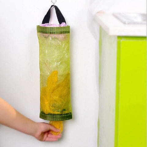 Bag Holder Wall Mount Storage Dispenser Plastic Kitchen Organizer