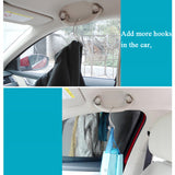 Clips Automotive Metal Car Seat Hook Auto Headrest Hanger Bag Holder for Car Bag Purse Cloth Grocery Storage Auto Fastener