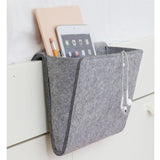 Christmas Grey Bed Storage Pockets Felt Bedside Hanging Storage Organizer Holder with 2 Inner Pockets for Bed Table Sofa