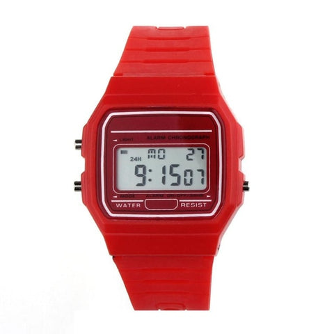 Silicone Rubber Strap Retro Vintage Digital Watch Quartz Wristwatch Male Watches reloj digital hombre erkek kol saati Hot Sale