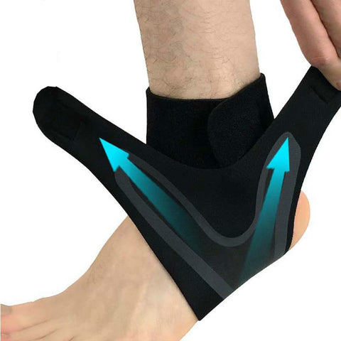 1 PCS Ankle Support Brace,Elasticity Free Adjustment Protection Foot Bandage,Sprain Prevention Sport Fitness Guard Band