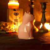 1 Pcs Black Cat Candle Pet candle Handmade candle Craft Scary skeleton Candle with skeleton Christmas New Year Decoration Gift